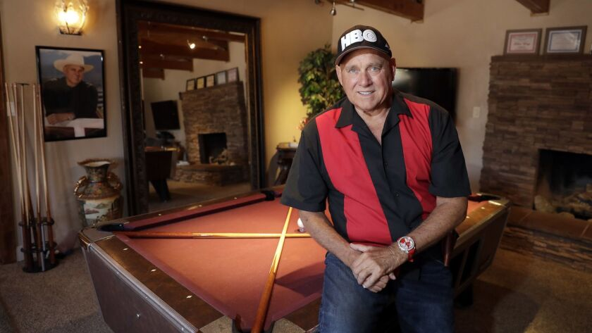 LAS VEGAS, NV - MAY 4, 2018: Brothel owner Dennis Hof is pictured at the Love Ranch brothel Friday,
