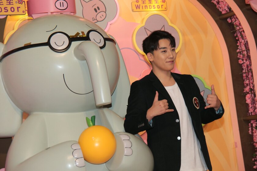Seungri Attends Press Conference In Hong Kong