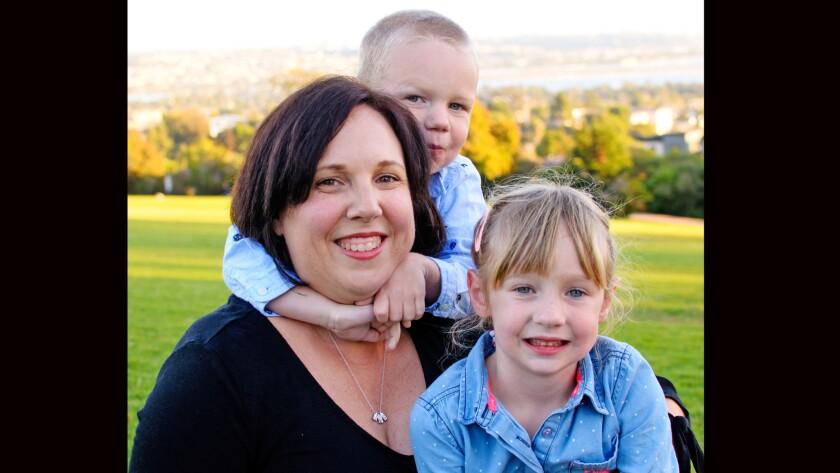 Sandy Gade Algra and her children Miriam 4 and Willem 3. Courtesy photo