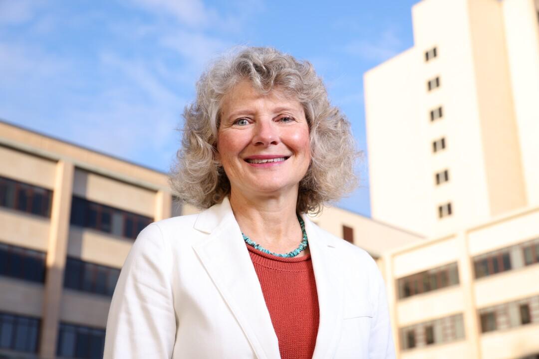 Dr. Linda Eckert outside the University of Washington Medical Center