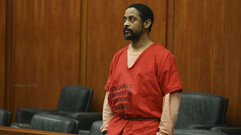 FILE - In this May 16, 2019, file photo, Isaiah Joel Peoples appears at a court hearing at the Santa