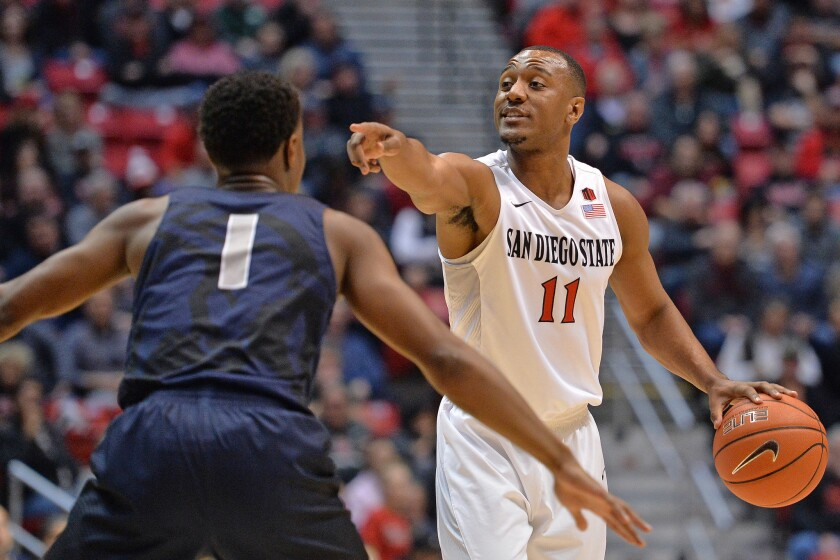 SDSU senior D'Erryl Williams, who will play his final home game at Viejas Arena on Wednesday, has his sights set on medical school.