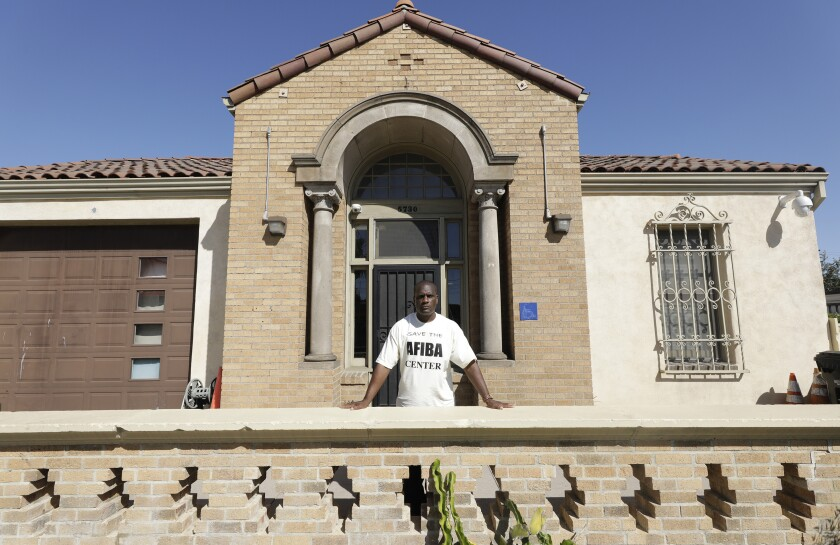 Jabari Jumaane is the founder of the African Firefighters in Benevolent Assn. in Los Angeles, which has been using an old firehouse on Crenshaw Boulevard for nearly two decades.