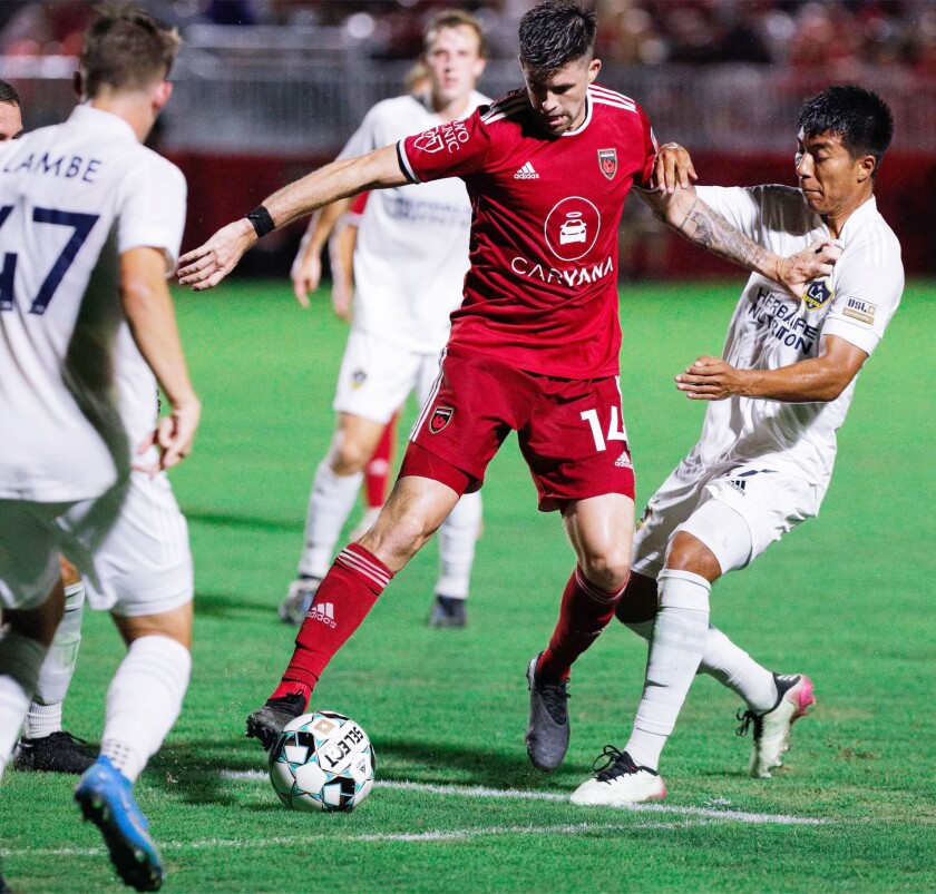 Aodhan Quinn, a midfielder for the Phoenix Rising, will return to San Diego this weekend.
