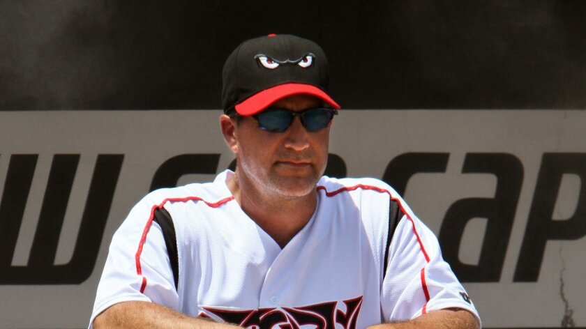 Phil Plantier, shown in 2011 season as Lake Elsinore Storm manager, is joining Padres as a hitting coach.