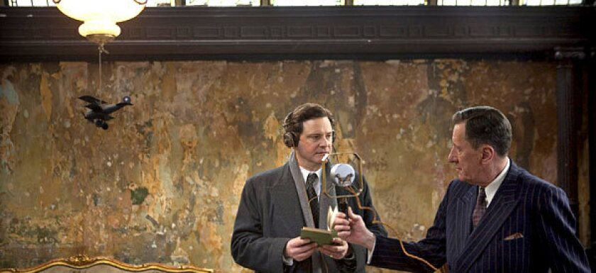 """Because this British film has the contours of an Oscar-friendly Hollywood story (not for nothing is the Weinstein Co. involved), """"The King's Speech"""" tends to sound more standard than it plays."""