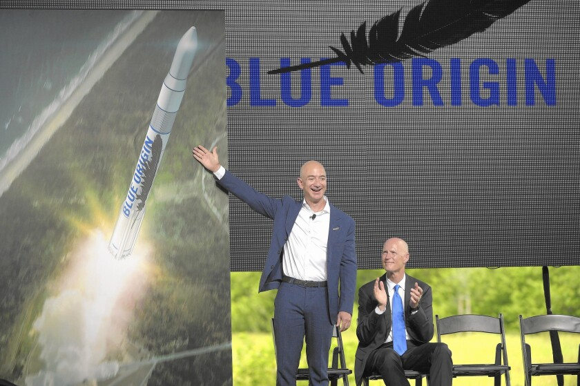Jeff Bezos outlines Blue Origin project