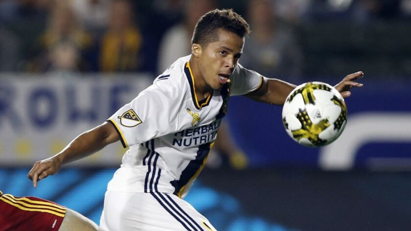 Galaxy forward Giovani dos Santos, in a match against Real Salt Lake in September 2017, will not be back with the L.A. team.
