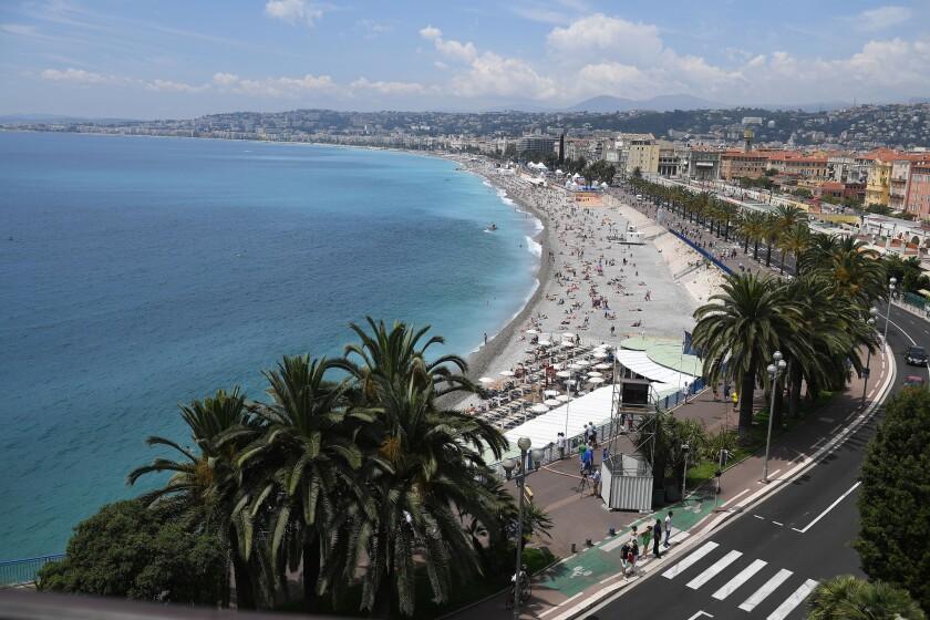 The coastline in Nice, France on June 13, 2016.