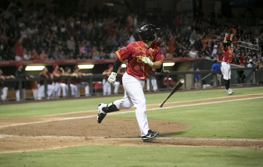 Padres minor league third baseman Ty France, pictured last year, had a home run and three RBI on Wednesday.