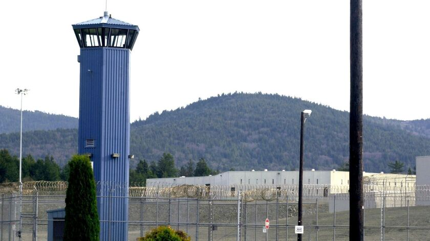 FILE - In this Dec. 7, 2001 file photo, Pelican Bay State Prison is seen outside of Crescent City, C