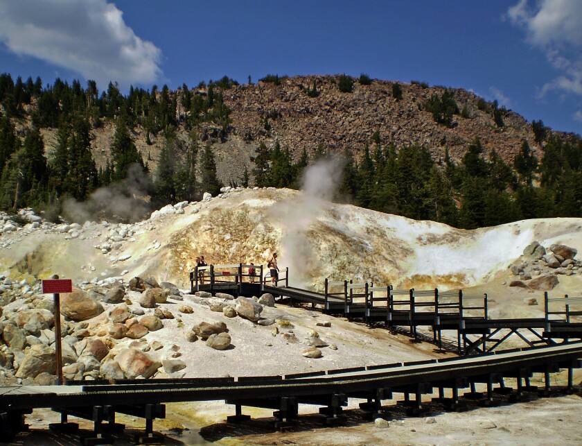 Bumpass Hell Trail in Lassen Volcanic National Park. The family of a 9-year-old boy who died at the park in 2009 settled with the federal government for $3.5 million.