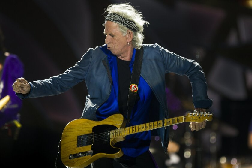 The Rolling Stones begin their US Tour Sunday night at Petco Park downtown. Keith Richards, lead guitarist gets lays down the bands iconic riffs for a sold out crowd.