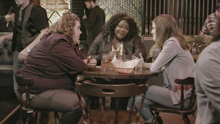 "From left: Jacob Wysocki, Nicole Byer, and Jen D'Angelo of the MTV show ""Loosely Exactly Nicole."""
