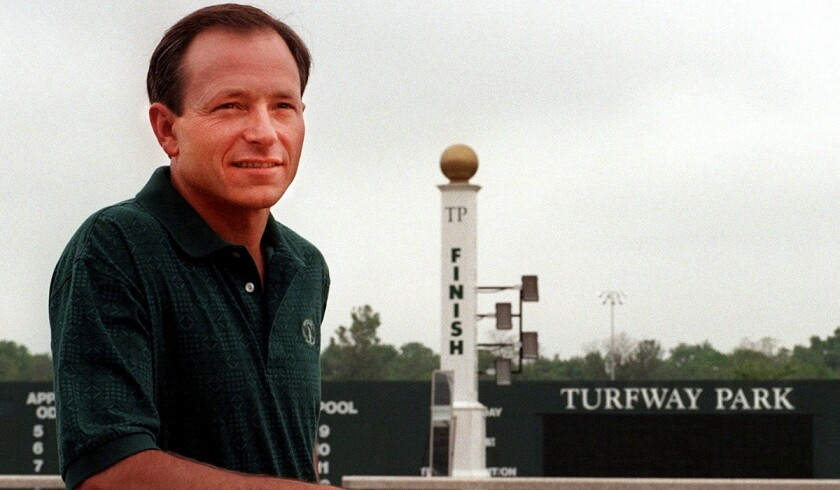 Steve Cauthen, seen in May 1997, is the last person to win the Triple Crown when he rode Affirm in 1978.