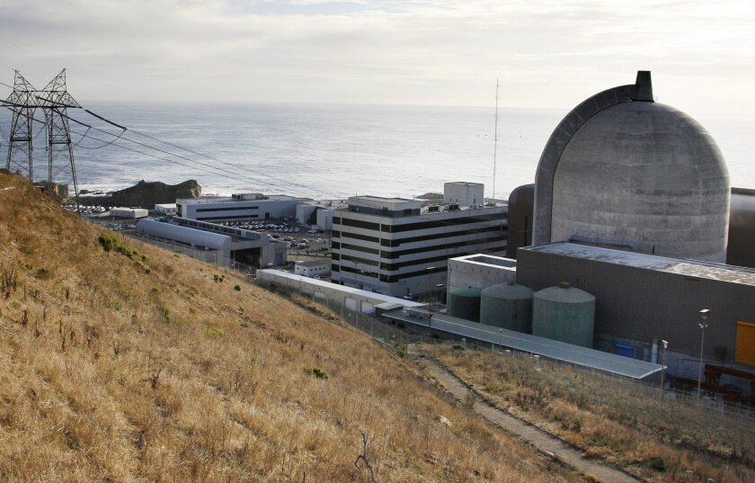 FILE - This Nov. 3, 2008, file photo, shows one of Pacific Gas and Electric's Diablo Canyon Power Plant's nuclear reactors in Avila Beach on California's central coast. Without new operating licenses, the plant can't run past 2025. Renewing a nuclear power license is a lengthy proposition, and so e