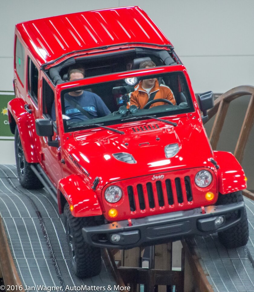 Thrills in a Rubicon on Jeep Mountain