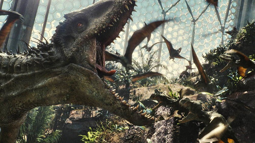 """Jurassic World,"" gobbling up the competition at the box office."
