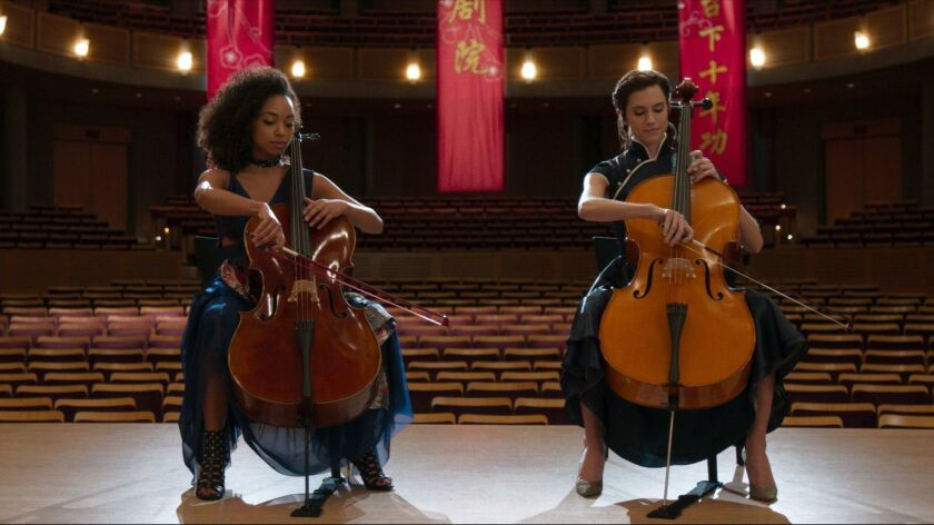 """Logan Browning and Allison Williams in a scene from """"The Perfection."""" Credit: Netflix"""