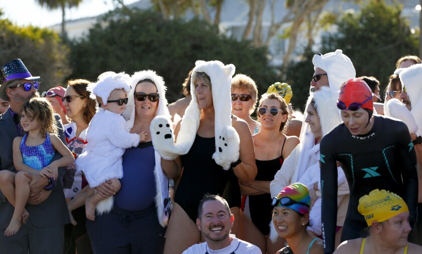 Annual Polar Bear Plunge at La Jolla Shores