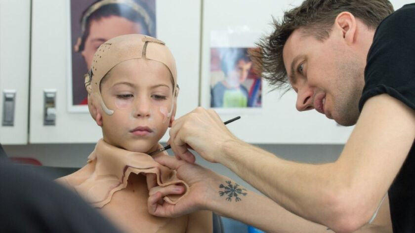 Wonder Makeup Designer Tackles A Tricky Job And Makes A Boy S Mother Cry Los Angeles Times