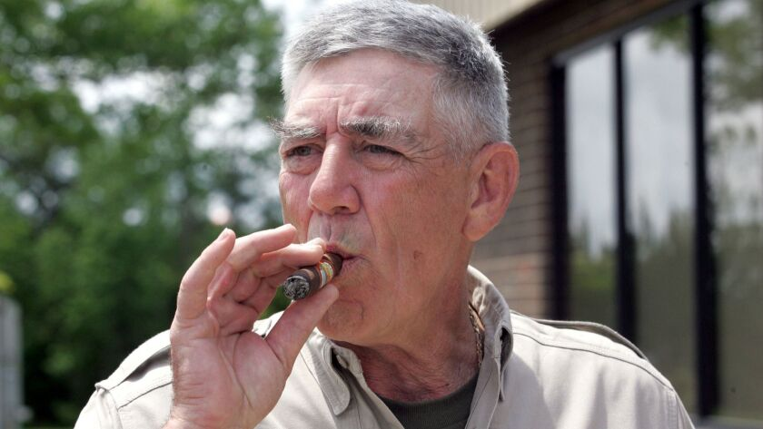 """R. Lee Ermey, a retired Marine who made a career in Hollywood playing hard-nosed military men like Gunnery Sgt. Hartman in Stanley Kubrick's """"Full Metal Jacket,"""" has died."""