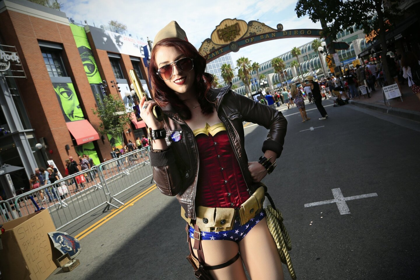"""Manda Manning as """"WWII Wonder Woman"""" for Comic-Con 2014."""