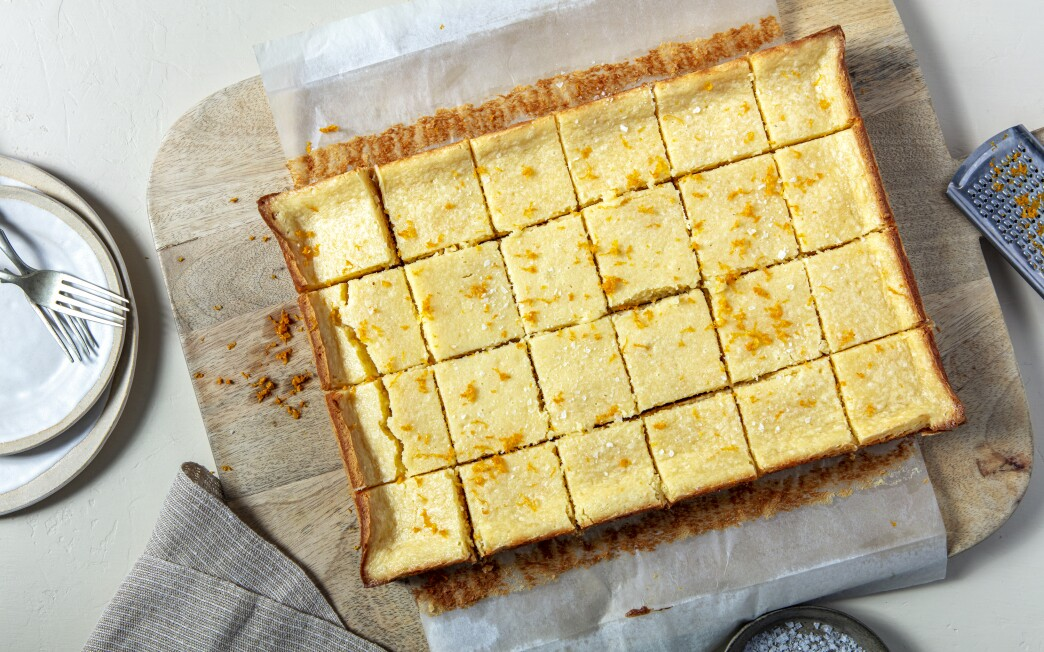 Gooey Butter Cake Squares.