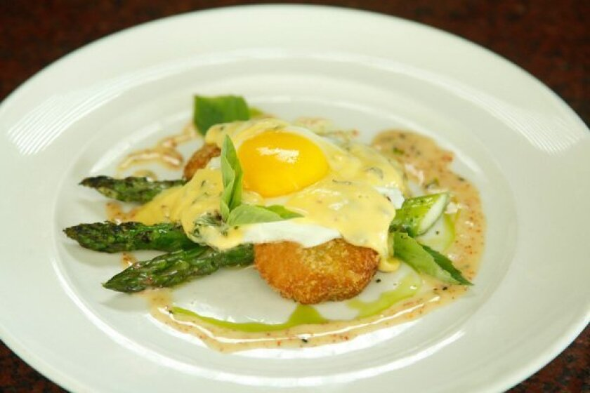 Egg, asparagus brunch dish served at Roppongi in La Jolla -- courtesy photo