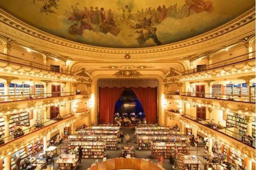 A 1920s movie palace converted into a bookstore in Buenos Aires.