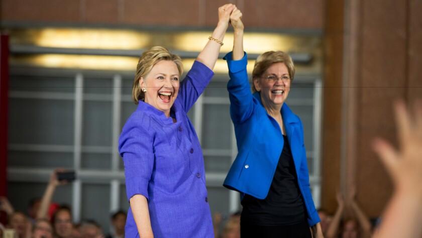 Hillary Clinton and Sen. Elizabeth Warren