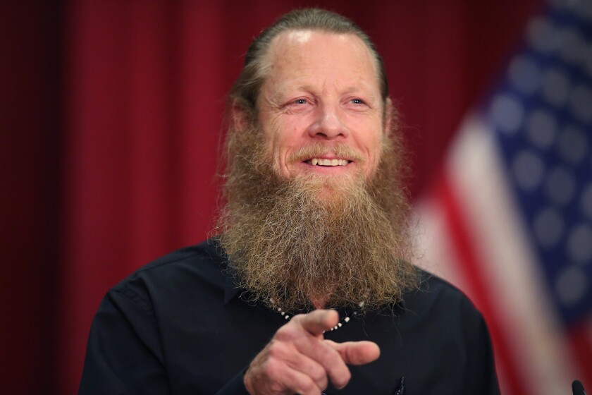 Bob Bergdahl speaks about the release of his son, Sgt. Bowe Bergdahl, during a news conference in Boise, Idaho.