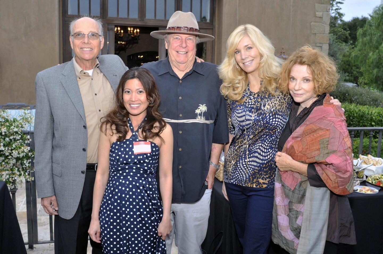 Frank Lane, Diana Garcia-Tanael, Bob Abbott, Shannon Russell, Laguna Beach Mayor Toni Iseman