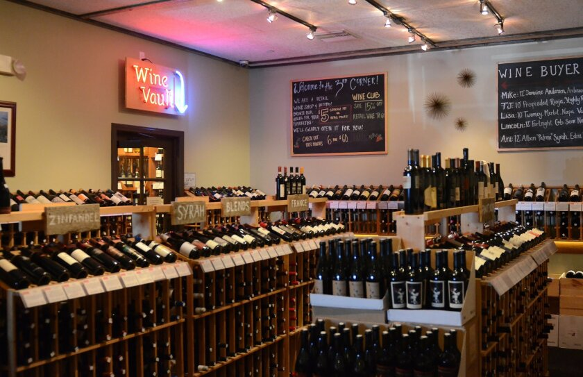 Customers can shop for a bottle of wine to accompany their meal.