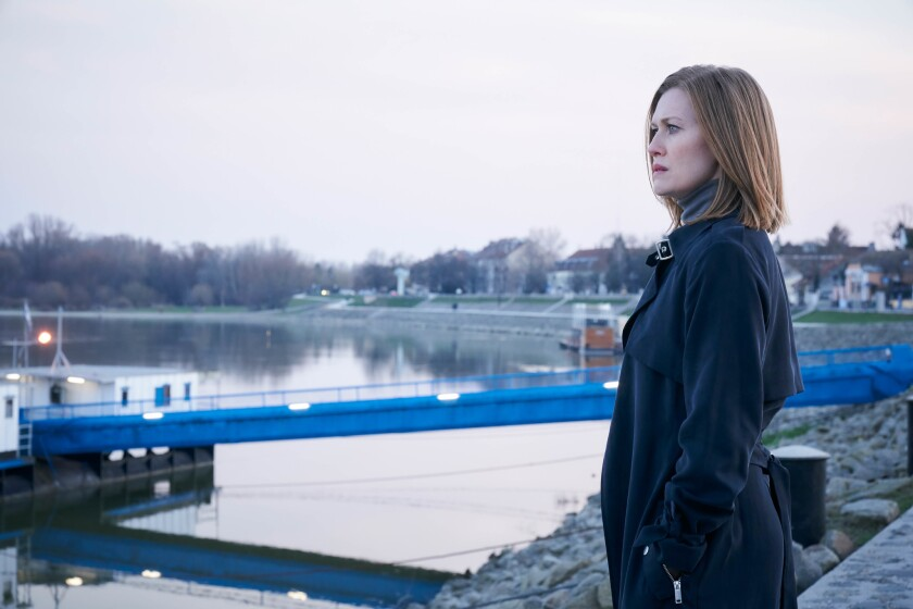 """A still from """"Hanna"""" on Amazon Prime. Pictured is Mireille Enos as Marissa, , an efficient and ruthl"""