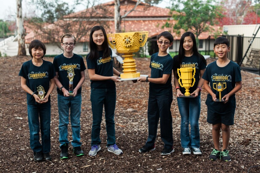 The Cambridge School's Team Abrick Cadabrick won the FIRST LEGO League (FLL) Southern California Regional Championship.