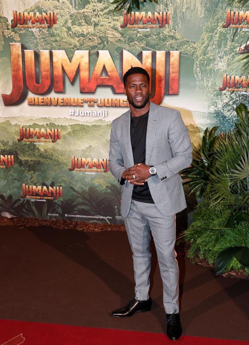 """El actor estadounidense y miembro del reparto de la película """"Jumanji: Welcome to the Jungle"""", Kevin Hart. EFE/Archivo"""