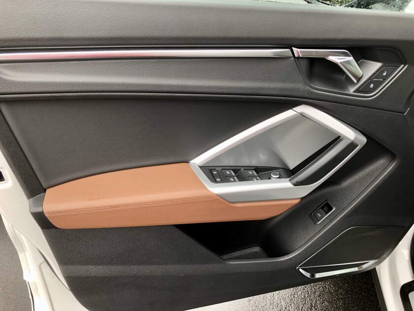 There are several areas for small-item storage, including the door panels.