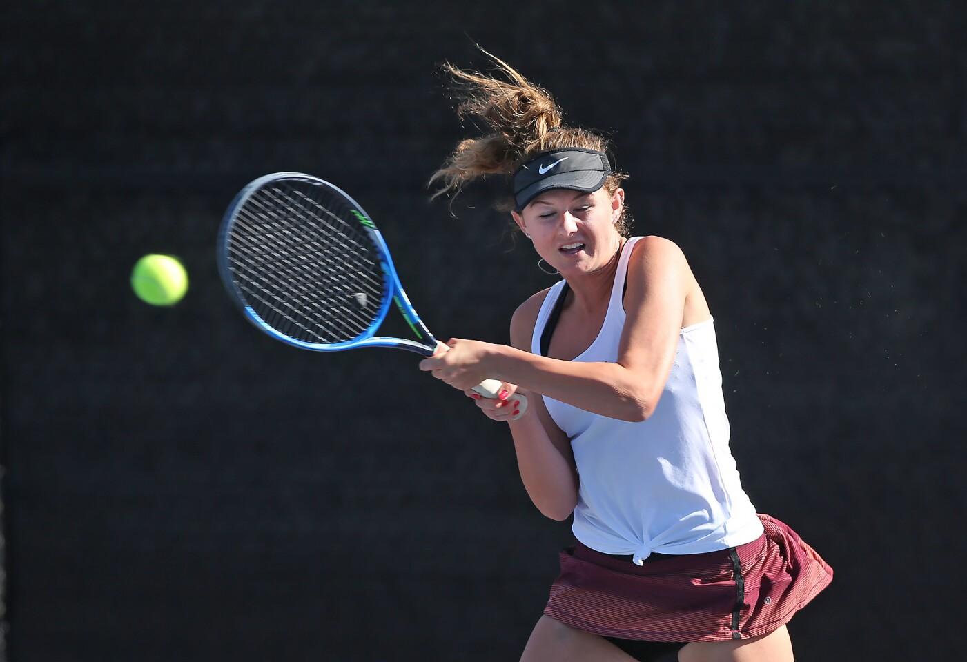 Photo Gallery: Edison vs. Laguna Beach in girls' tennis