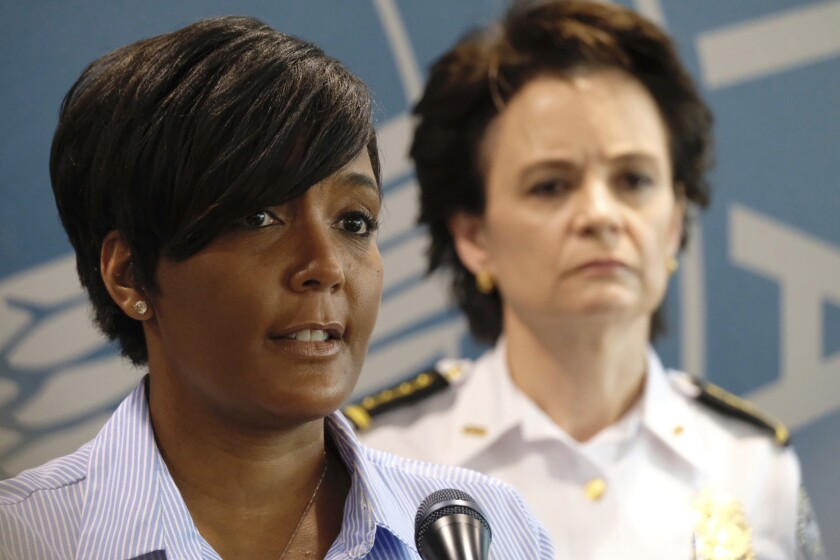 Atlanta Mayor Keisha Lance Bottoms announces a 9 p.m. curfew May 30 as protests continue over the death of George Floyd.
