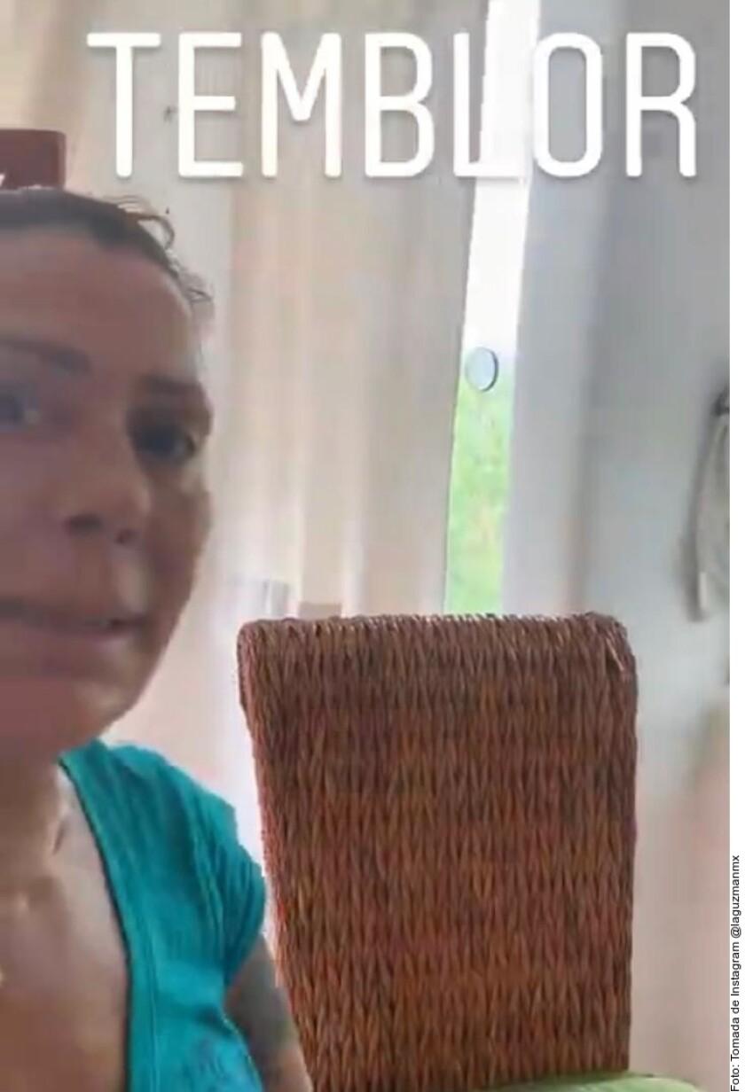 Alejandra Guzmán en su casa