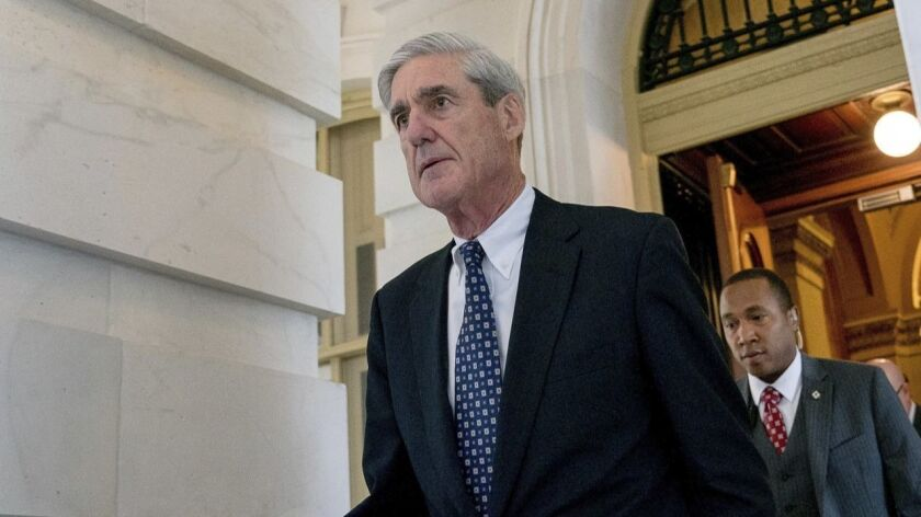 Special counsel Robert S. Mueller III did not rule out interviewing the president as part of his wide-ranging inquiry.