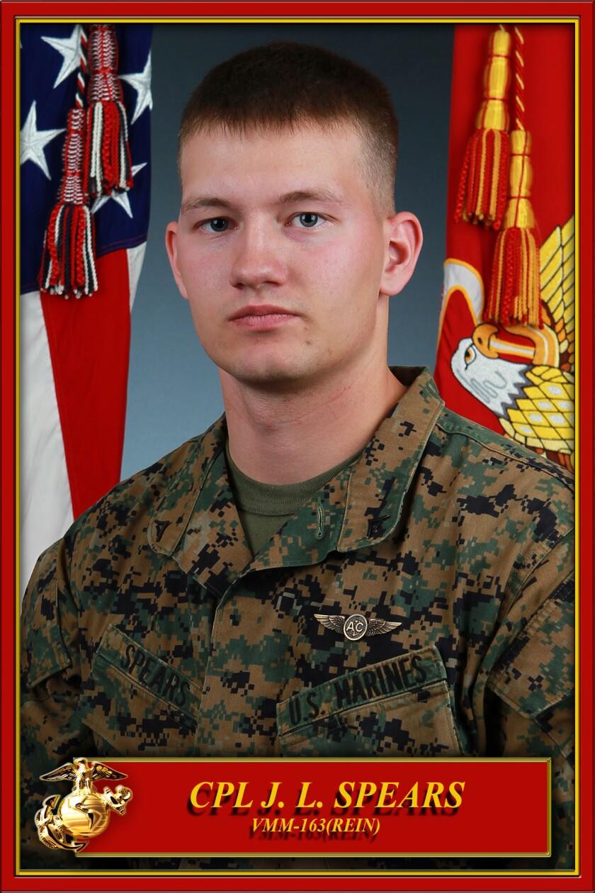 Marine Cpl. Jordan Spears