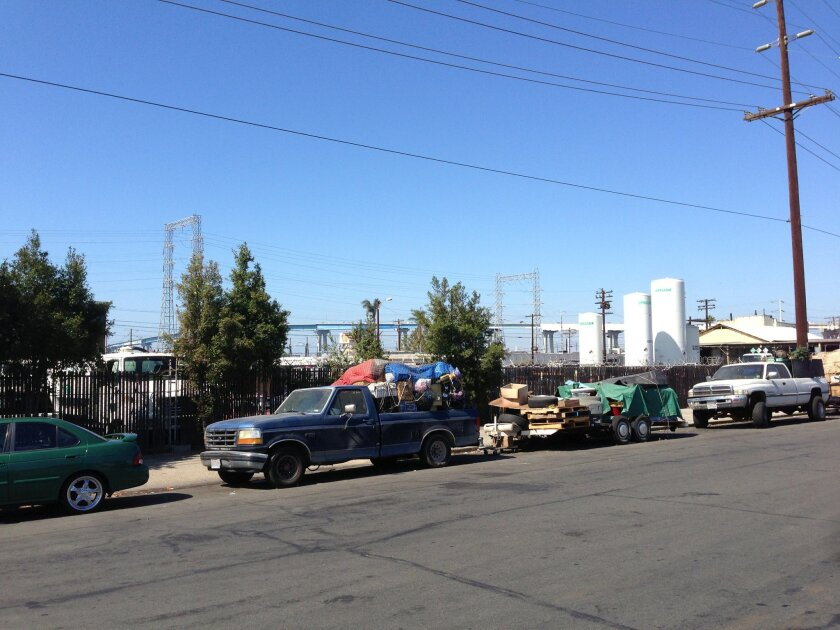 Barrio Logan's community plan would restrict industrial and residential use in this block in a planned buffer zone.