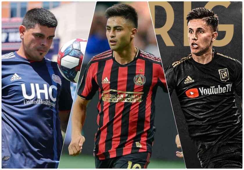 Gustavo Bou (i), 'Pity' Martínez y Brian Rodríguez, 'joyas' sudamericanas en la MLS.
