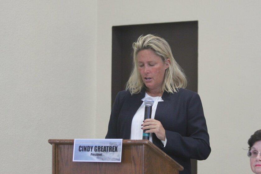 La Jolla Community Planning Association president Cindy Greatrex