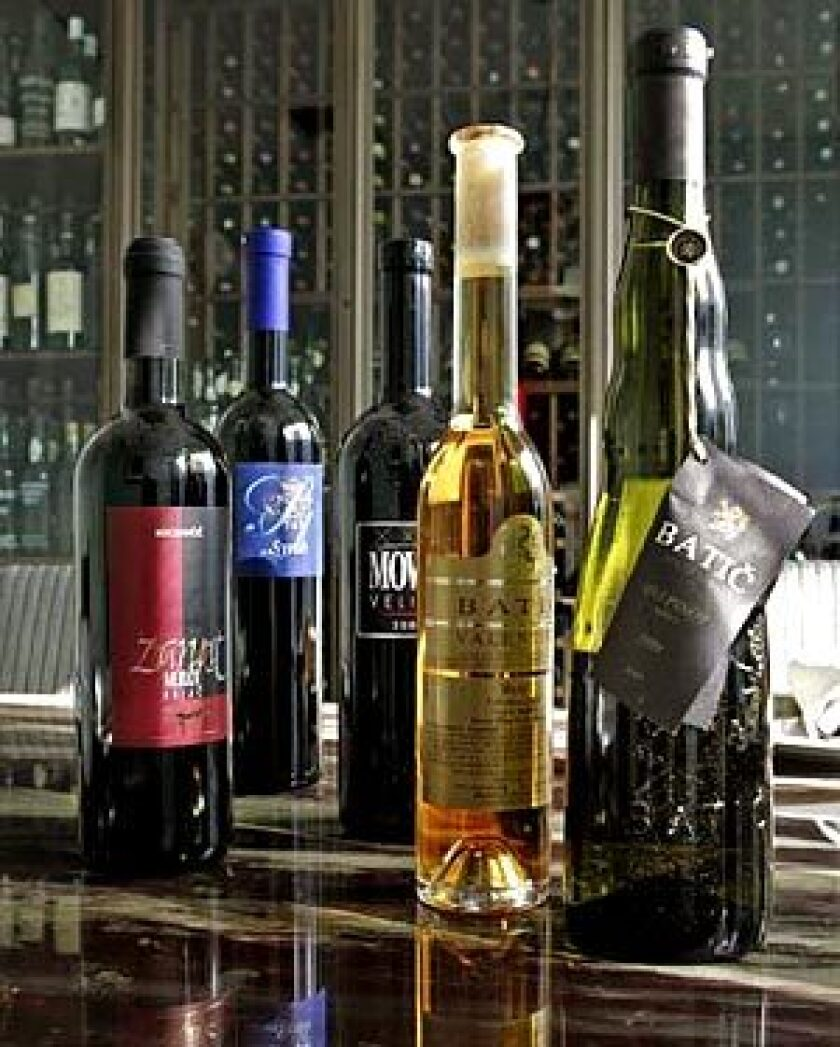 ON THE LIST: Several L.A.-area wine shops and restaurants, such as Bastide in West Hollywood, carry Slovenian wines including Movia, Simcic and Batic.