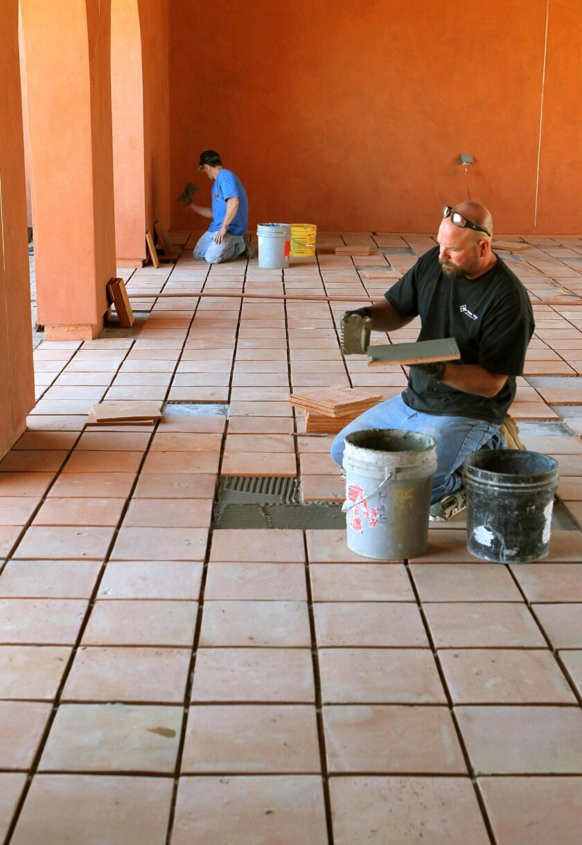 The first phase of the La Posada de Guadalupe homeless shelter in Carlsbad, with beds for 50 people, is nearing completion. CHARLIE NEUMAN • U-T