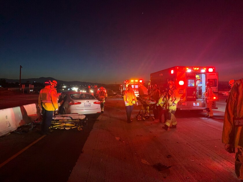 Vehicle collision on the southbound 405 Freeway early Thursday morning.