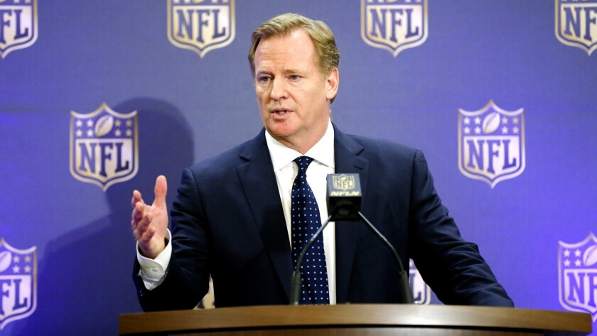 NFL Commissioner Roger Goodell, addressing the media on Dec. 2, has cleared the way for a vote on possible relocation to Los Angeles.